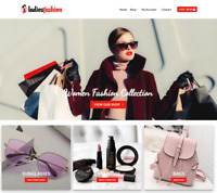 Ladies Fashion Website Business - Earn $71 A SALE. Free Domain Hosting Traffic