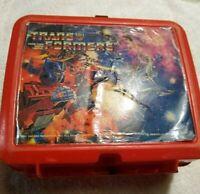 1984 Transformers Lunchbox Aladdin Vintage Rare Fair Condition 80s