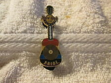 Hard Rock Cafe Pin Denver - 2009 - Gay Pride Guitar w/ Gold Record (#48792)