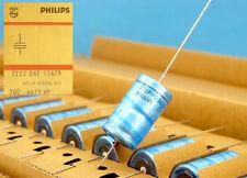 2x Vintage Philips Electrolytic Axial Capacitors 47uF 250V Nos