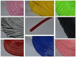 2mm Hollow Rubber Tubing cord to cover wire 2M 5M 10M COLOURS