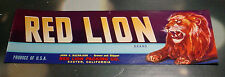 Red Lion Brand Packing Co Exeter California Vintage Crate Label Unused Leo Litho