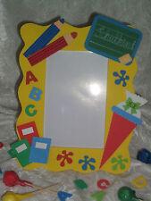 Bilderrahmen ABC Einschulung Schulanfang Geschenk Schultüte Tafel Stifte gelb