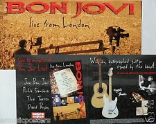 "BON JOVI ""LIVE FROM LONDON"" 2-SIDED U.S. PROMO POSTER / BANNER - Hard Rock"