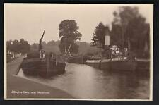 Allington nr Maidstone. Lock & Canal Barges in Rack Ser