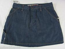 VOLCOM SKIRT Jeans Denim Blue Ladies Juniors Coochie SIZE 7 NEW