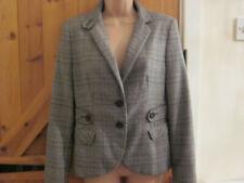zara ladies brown,grey tweed hacking jacket size 10 gd condition