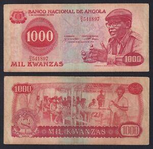 Angola 1000 kwanzas 1979 BB/VF  B-02
