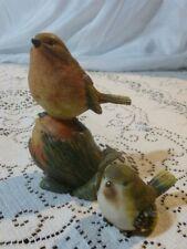 Decorative collectible Resin Bird Figures Sitting on Acorn
