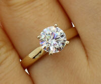 1.00 Ct 14K Yellow Gold Round 4 Prong Classic Solitaire Engagement Promise Ring