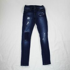 Boomboom Jeans Destroyed Skinny Blue Jeans Women Stretch Size 3