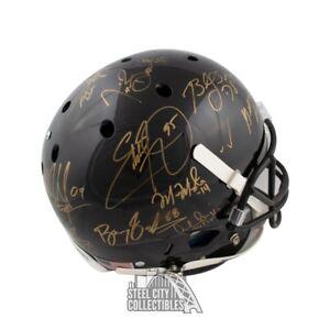 Heisman Trophy Winners Autograph Black Full-Size Football Helmet Steiner 24 Sigs