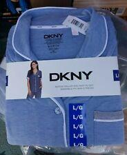 DKNY Notch Collar and Pant PJ Set Enesemble Pyjama 2 Pieces Pyjamas Pj's XL