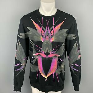 GIVENCHY S/S 2012 Size M Black Print Cotton Crew-Neck Sweatshirt