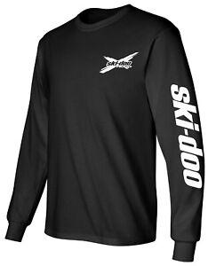 SKI-DOO style SNOWMOBILE Long Sleeve Shirt FAST SHIPPING *CHOOSE DESIGN COLOR