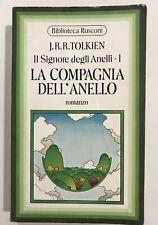 J.R.R. Tolkien SIGNORE ANELLI 1 COMPAGNIA ANELLO rusconi 1a ed biblioteca