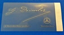 Mercedes Windshield Glass Decal Sticker Signature Signed By Daimler Genuine