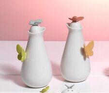 Set Olio/Aceto 13,5 cm in porcellana Collezione Butterfly di Mandorle by Paben