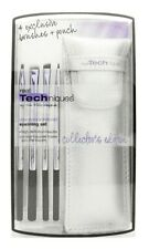 Real Techniques Your Eyes/enhanced Eyelining Set 4 Brushes Pouch Aus