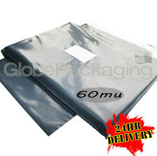 "100 x Grey 14 x 20"" Postal Mailing Bags 350x500mm 24HRS"