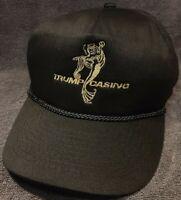 Vintage Trump Casino Black Snapback Hat  Embroidered Atlantic City Trucker Cap