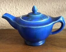 Clews & Co. Chameleon Ware China Teapot In Blue Glaze