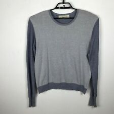 Misericordia Sweater Size XL Blue Gray Crew Neck Long Sleeve Cotton Mens