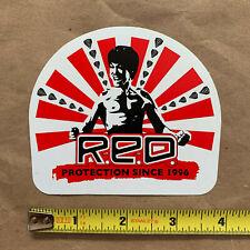 """Burton Red snow helmet sticker decal, genuine, Bruce Lee, 4"""" x 3.5"""", New"""