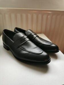 Men's CHARLES TYRWHITT Black Leather Loafers Shoes Size UK13/EU48.5