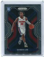 2020-21 Prizm Basketball Saben Lee Base Rookie RC No.261 Pistons Mint