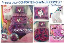 7pc Jojo Siwa Comforter+Pillow Sham+Sheets +Unicorn Set Full/Double Bed in a Bag