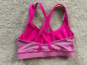 Lululemon Women's Size 4 Strappy Sports Bra Shirt Top Yoga Pink