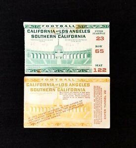 Pair of 1938 UCLA vs USC Ticket Stubs Nov 24 Thanksgiving L.A Memorial Coliseum