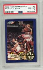 1992 Fleer Team Leader Michael Jordan #4 psa 8 nm-mt