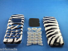 Front Back Cover Tastatur Nokia 3210 Gehäuse Handyschale Neu Zebrastreife Keypad