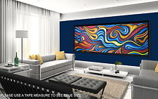 120cm x 40cm  COA Canvas print Aboriginal inspired Art By Jane Crawford