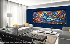 """150cm x 50cm CANVAS PRINT ART PAINTING """"OCEAN FIRE"""" LANDSCAPE  AUSTRALIA"""