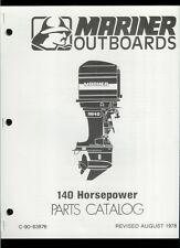 Orig 1978 Mariner 140 HP Outboard Motor/Engine Illustrated Parts List Catalog