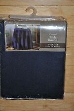 """Home Trends Concord Table Round Navy Blue 70"""" Polyester Tablecloth Brand New Nip"""