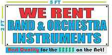 WE RENT BAND & ORCHESTRA INSTRUMENTS Banner Sign