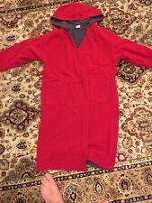 Gap Boys Size 8 Reversible Robe- Red/gray- Hood