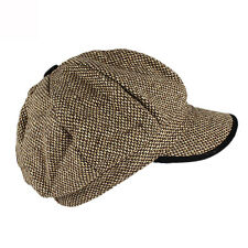 Kids Unisex Brown Camel Newsboy Hat Cabbie Cap KKBR