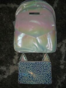 Justice leopard halo Backpack w/matching wristlet NEW