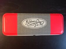 Retro 1990s Tin Pencil Pen Case School Korea Kawaii Collect Stationary Red