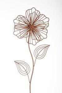 Blume Edelrost Stahl 3D Garten Deko Metall braun