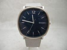 Authentic Skagen SKW6380 Blue Square Dial Mesh Bracelet Men's Watch