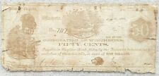 Corporation of Winchester, VA Confederate Fifty Cent Note 1861  Beehive and dog