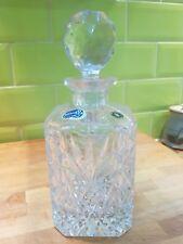 Vintage République Tchèque Bohême Crystal decanter
