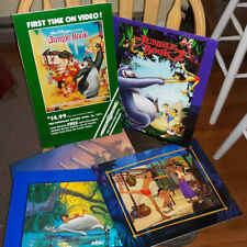Disney's Jungle Book & JB 2 lithographs PLUS store display advertising sign