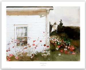 Around the Corner, 1992 by Andrew Wyeth Art Print House Port Clyde, Maine 24x30